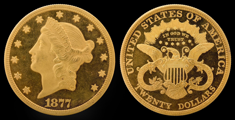 20 dollars Liberty or 1877