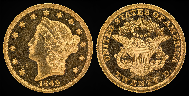 20 dollars Liberty or 1849