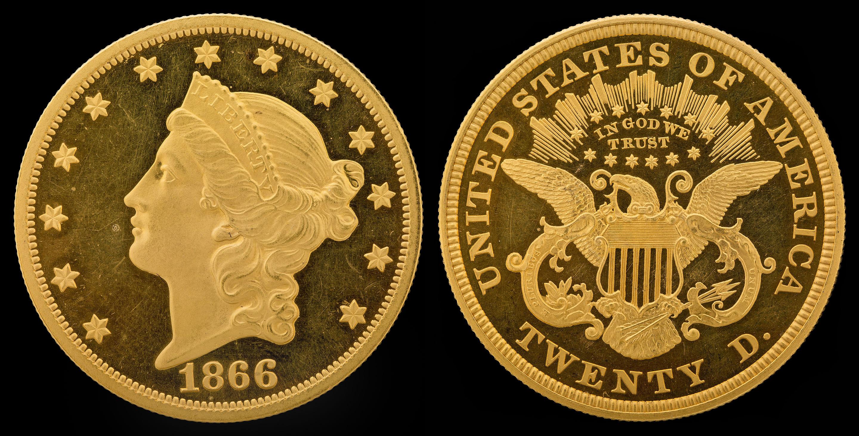 20 dollars Liberty or 1866
