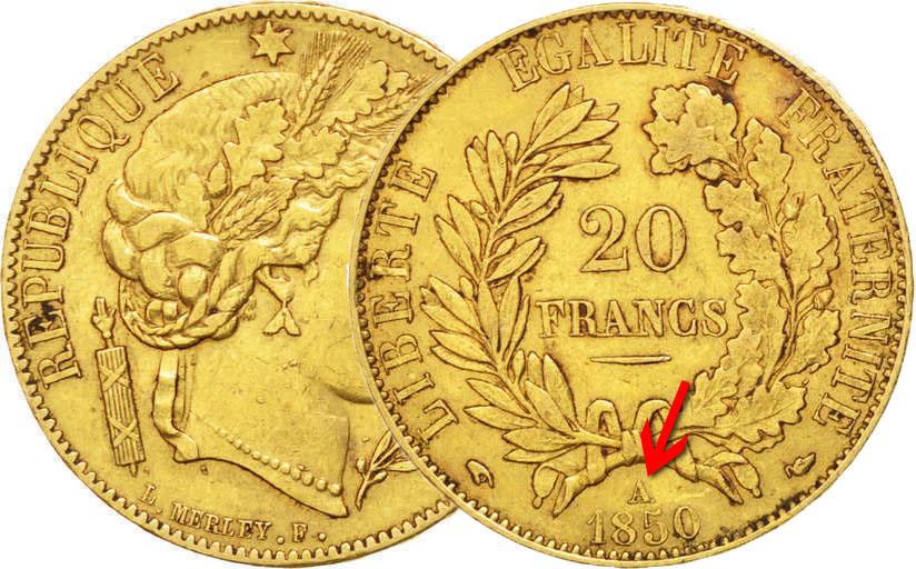20 francs cérès or