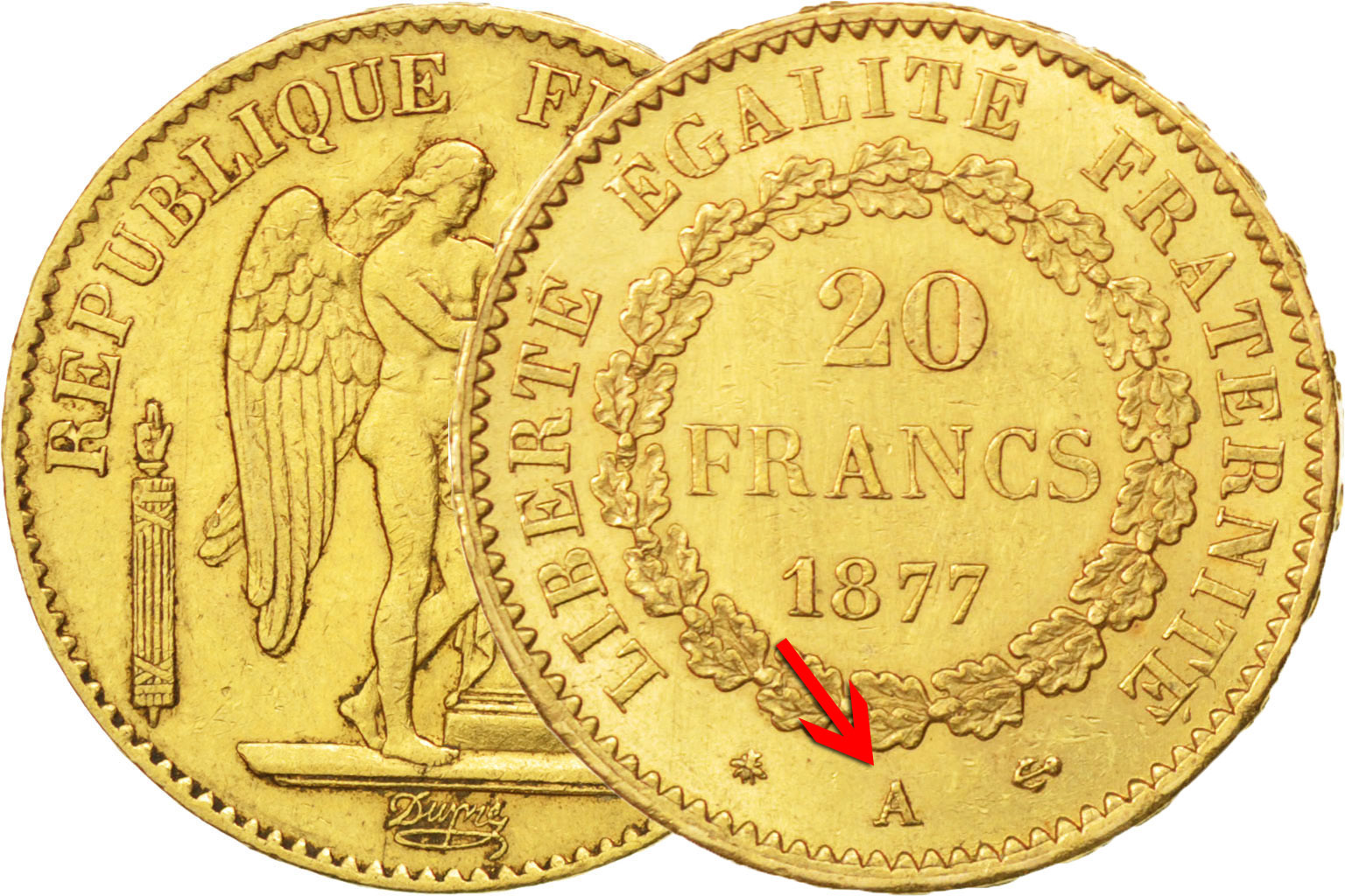 20 francs or type Génie