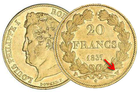 20 francs or Louis Philippe
