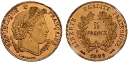 5 francs or Cérès