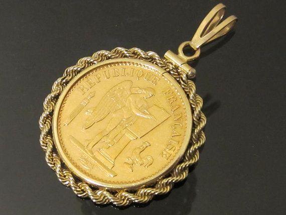 20 Francs napoléon monté en pendentif