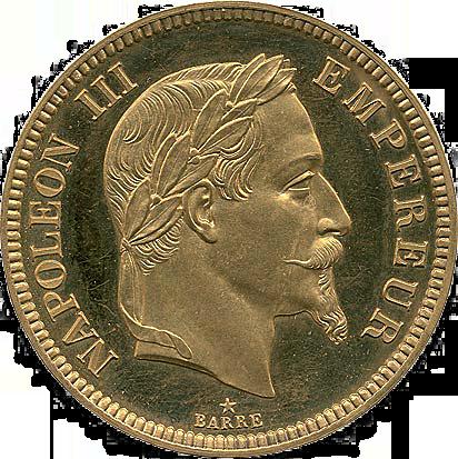 100 francs or Napoléon III 1861 Flan Bruni - avers