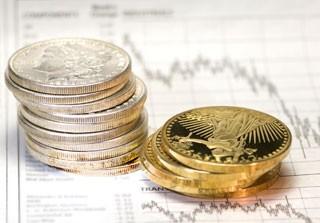 pièces en or et pièces argent