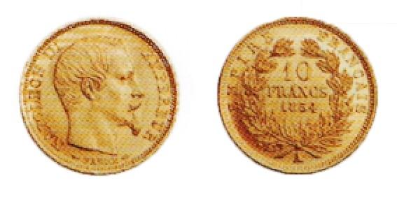 10 francs or petit module