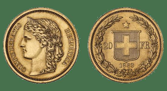 20 francs suisse or premiere version