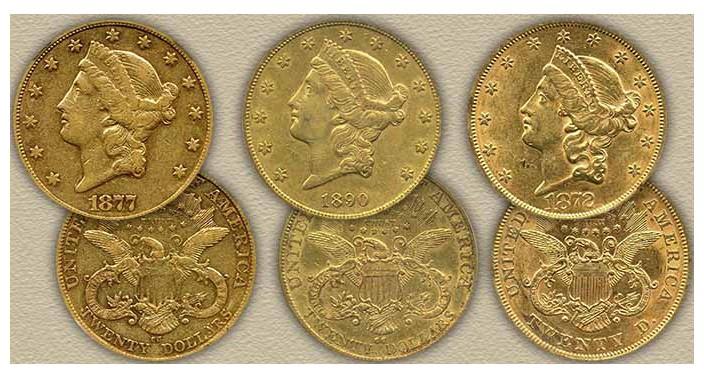 Valeur pièces or 20 Dollars Liberty