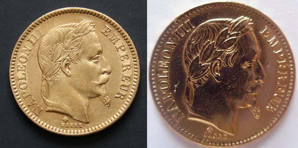 vrai faux 20 francs napoleon III