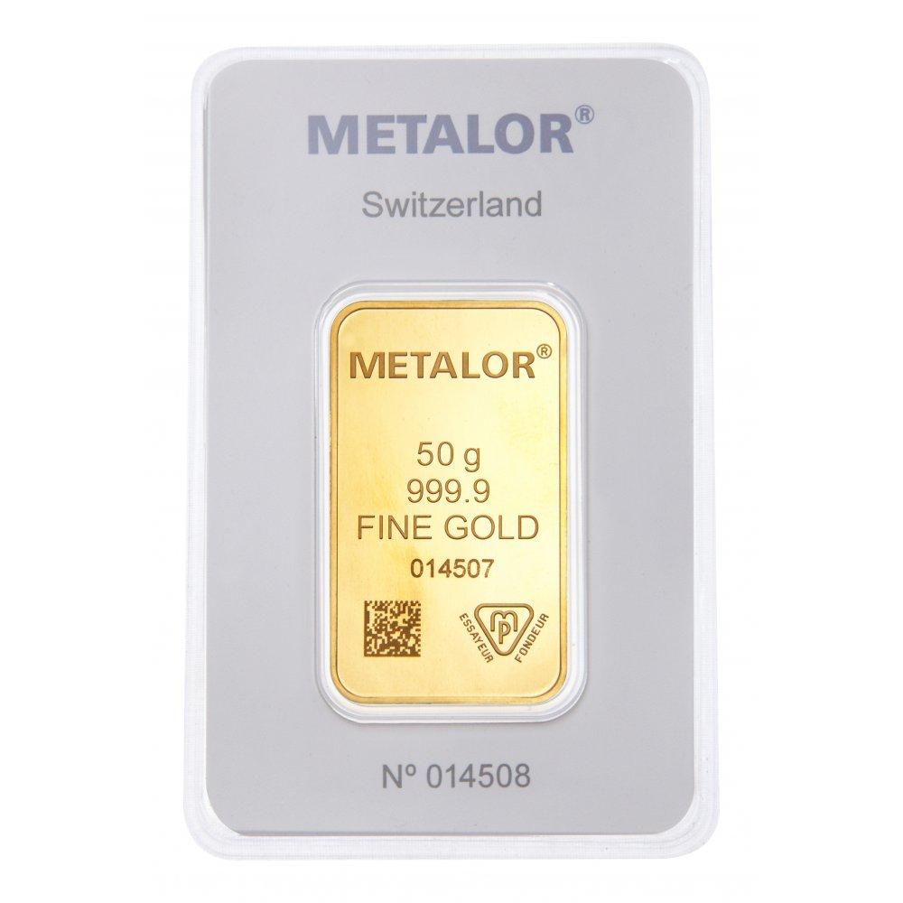 lingot or Metalor 50g