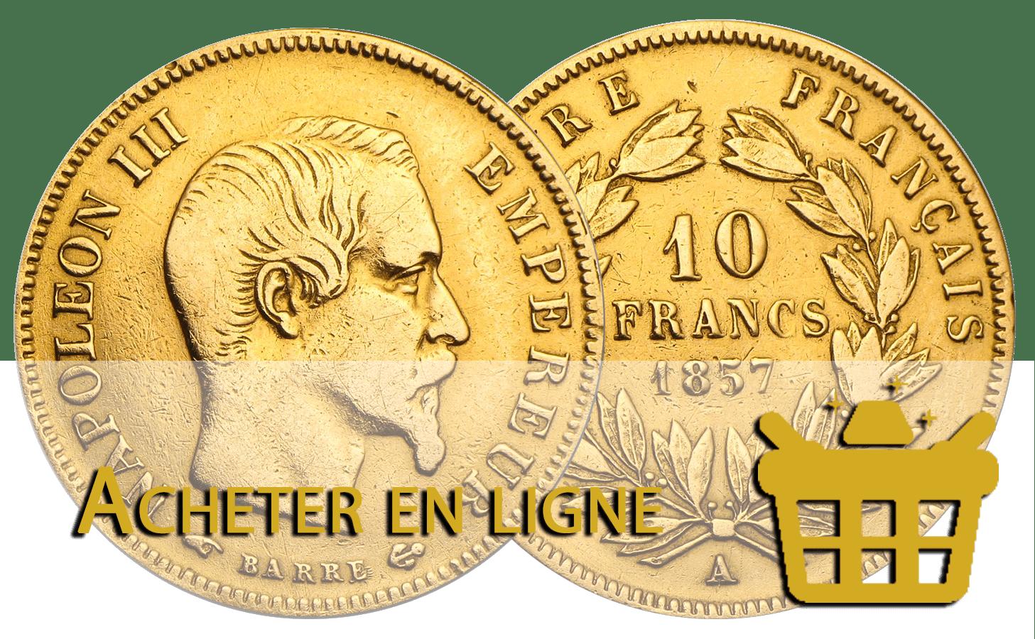 acheter 10 francs or