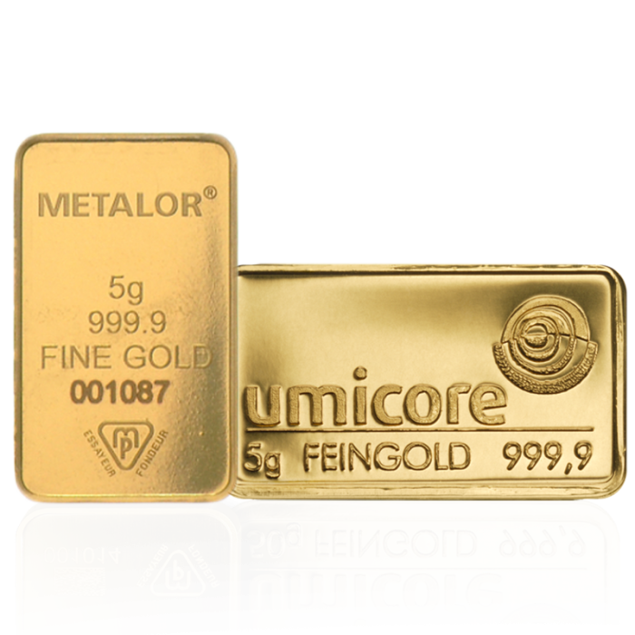 Lingot de 5 Grammes d'Or