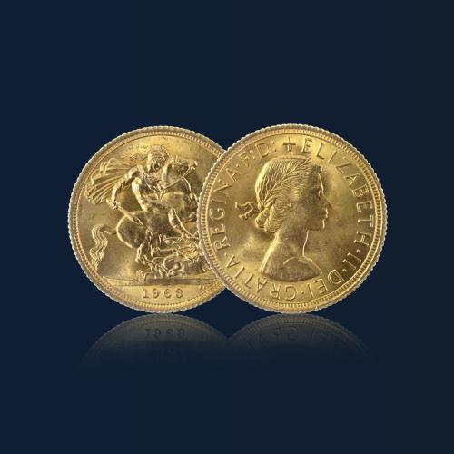 acheter piece or souverain elizabeth orobel 1