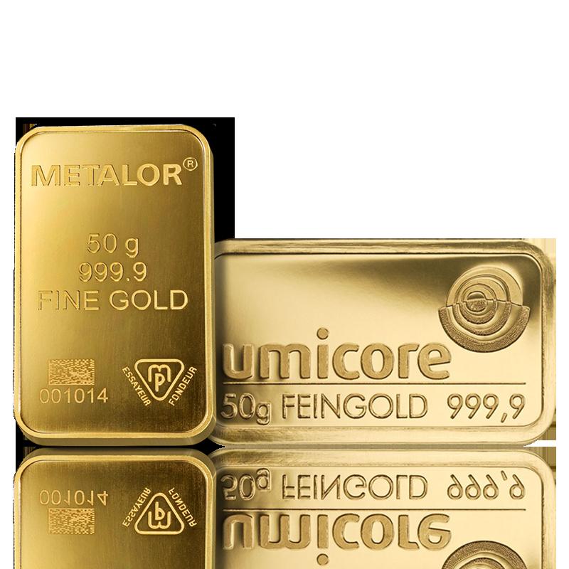 Lingot de 50 Grammes d'Or