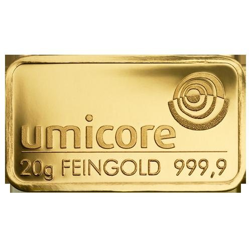 Lingot de 20 Grammes d'Or