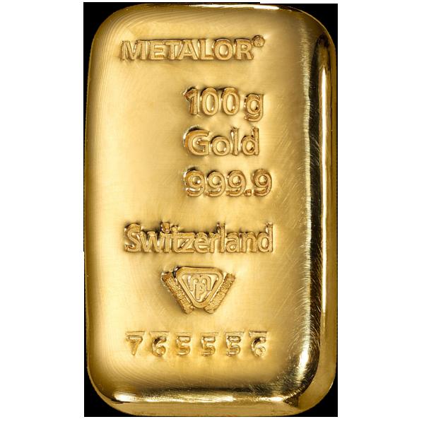 Lingot de 100 Grammes d'Or