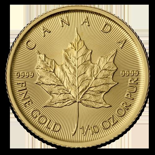 1/10 Maple Leaf en or