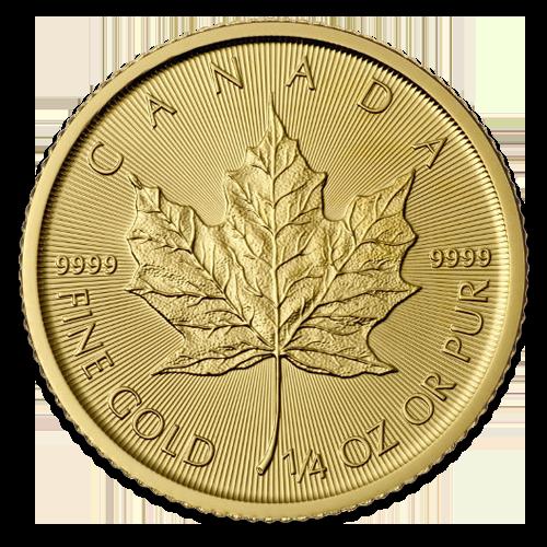 1/4 Maple Leaf en or