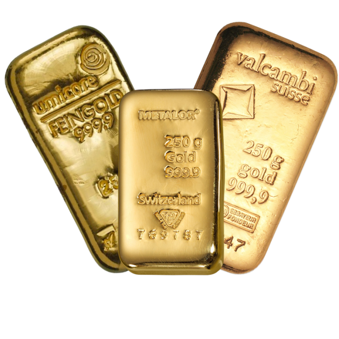 Lingot de 250 Grammes d'Or