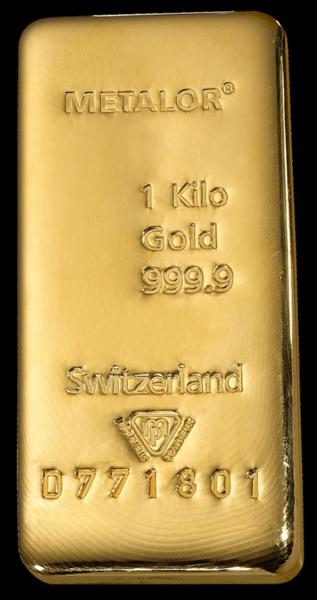 Lingot de 1 Kilo d'Or