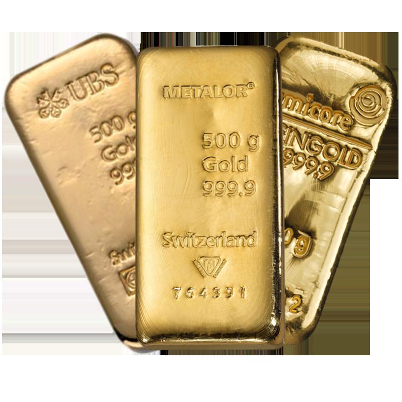 Lingot de 500 Grammes d'Or