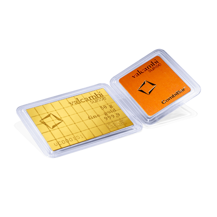 Lingot tablette CombiBar Or 50x1 gramme d'or 999.9