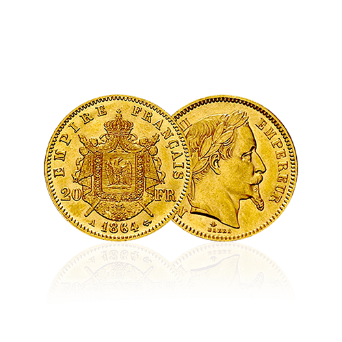 20 francs francais napoleon louis or orobel