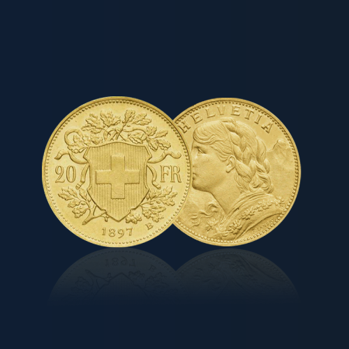 20 francs suisse pieces or orobel