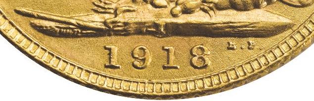 atelier monnaie bombay piece or souverain