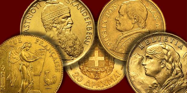 calculer valeur pièces or union latine