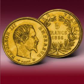 valeur pièces or 5 francs