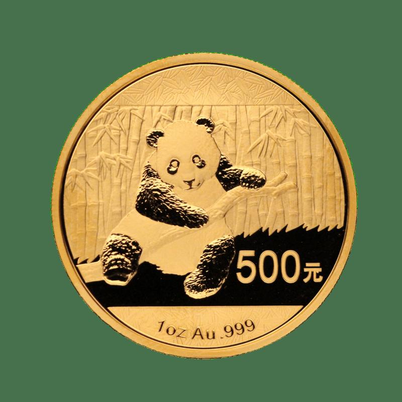 pièce or panda chinois avers
