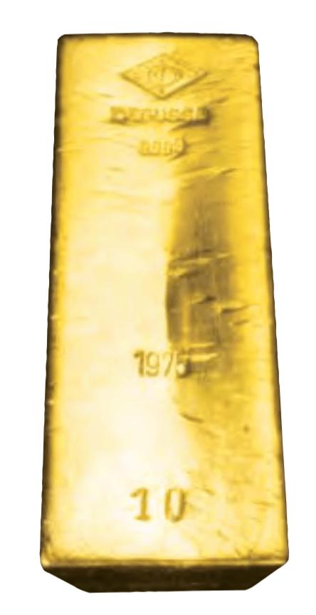 barre d'or Bonne Livraison Degussa