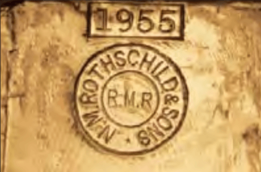 poinçon lingot or NM Rothschild & Sons