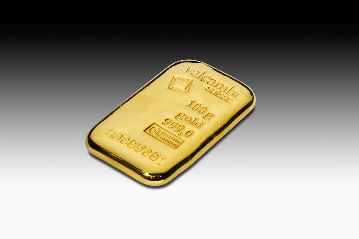 lingot d'or coulé Valacambi