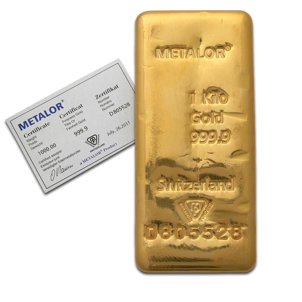 lingot or un kilo Metalor