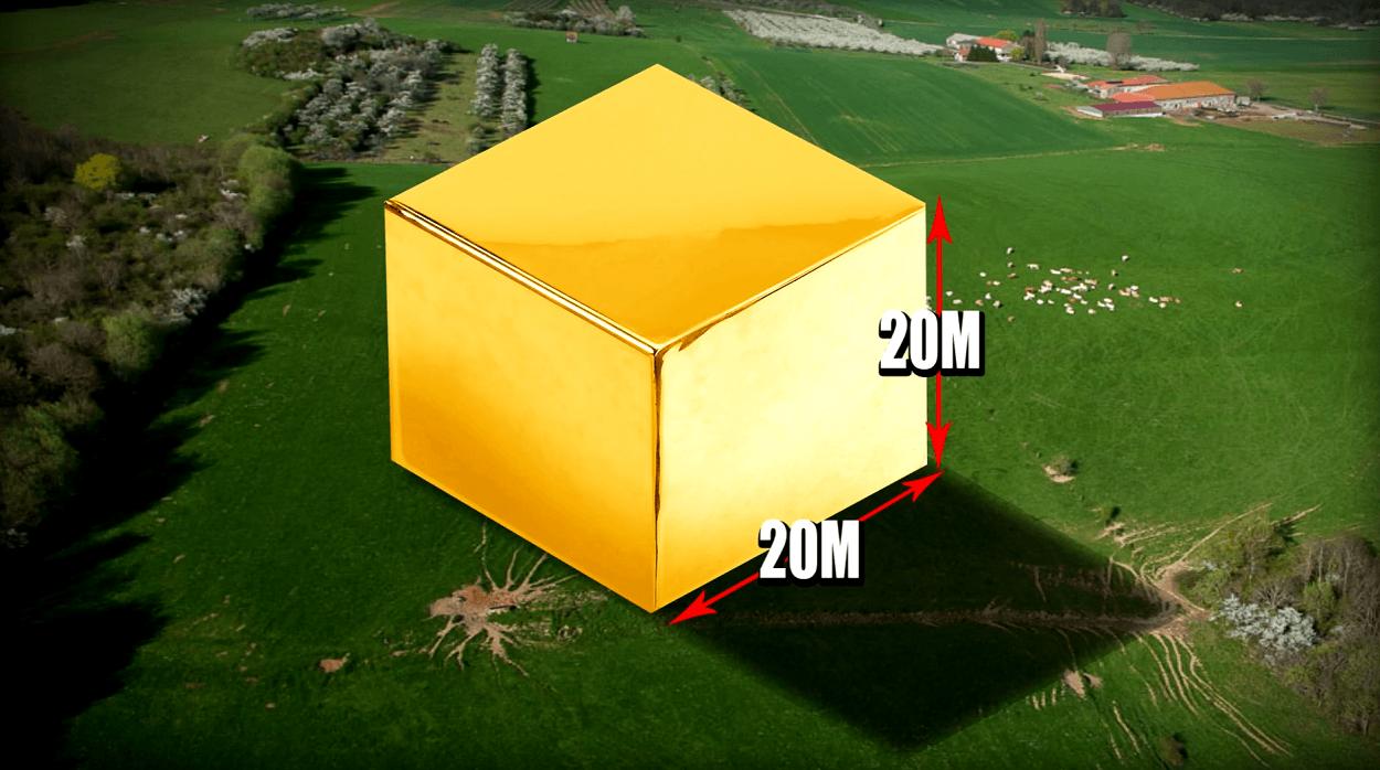 toute lor extraite depuis laube de lhumanit rentre dans un cube de 20 m sur 20m