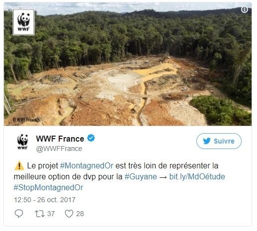 tweet wwf france montagedor guyane