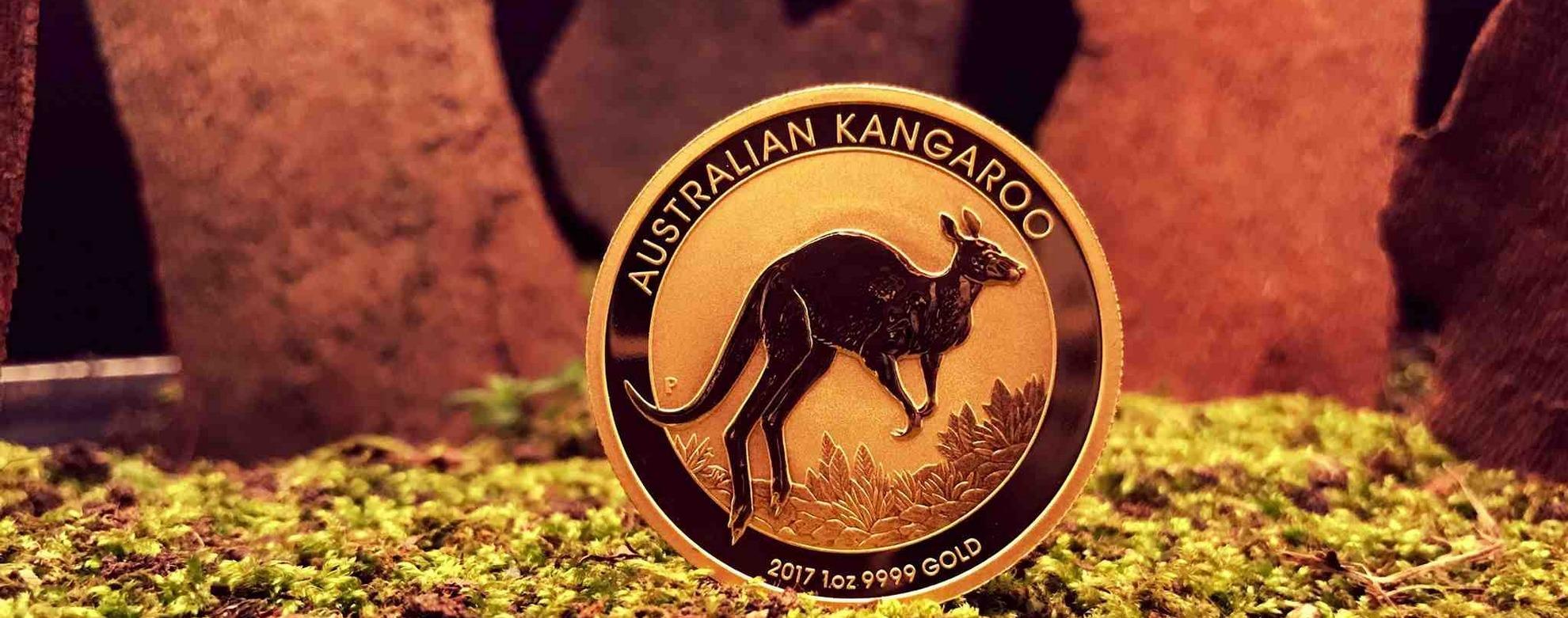 Australien nugget kangourou pice dor par orobel