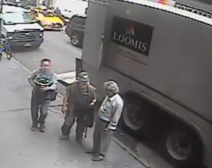 Voleur d'un sceau d'or dans un camion blindé