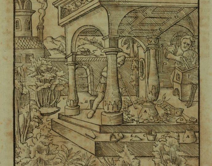 La séparation de l'or et de l'argent par le soufre, De Re Metallica 1556