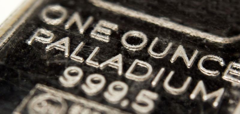 Lingot d'une once en palladium
