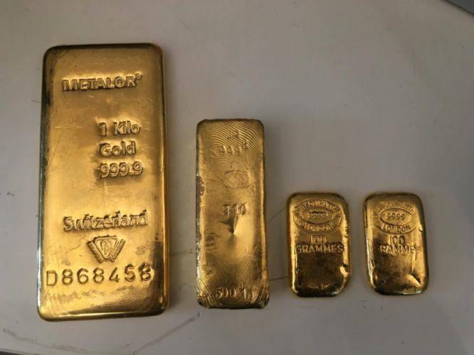 Lingots en or pour recyclage