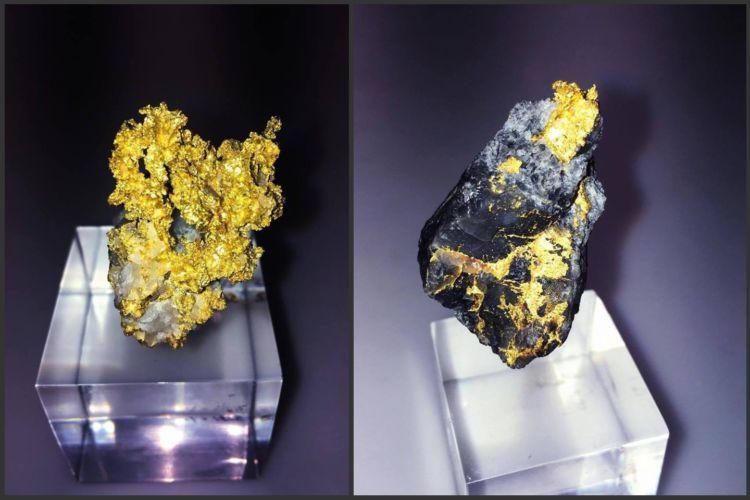 Une collection de pépites et de minerais d'or natif tout à fait exceptionnelle