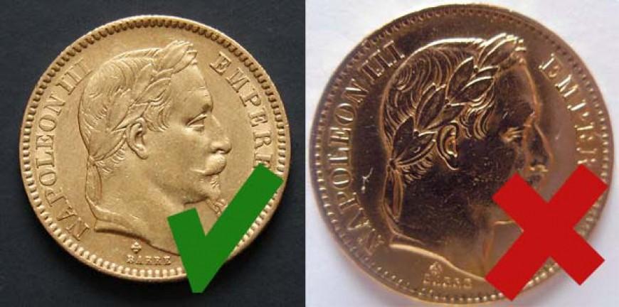 20 Francs Napoléon en Or - Original contre Copie