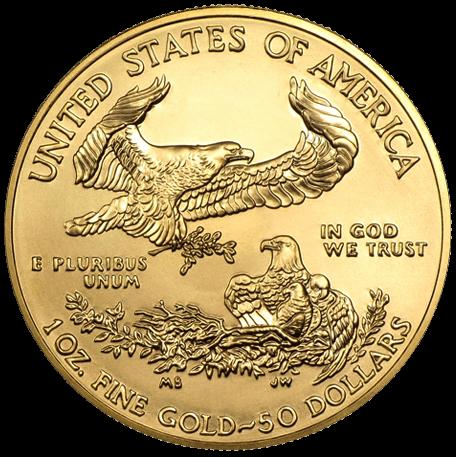 50 dollar gold eagle 1 ounce munt