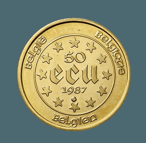 50 Ecu pièce or
