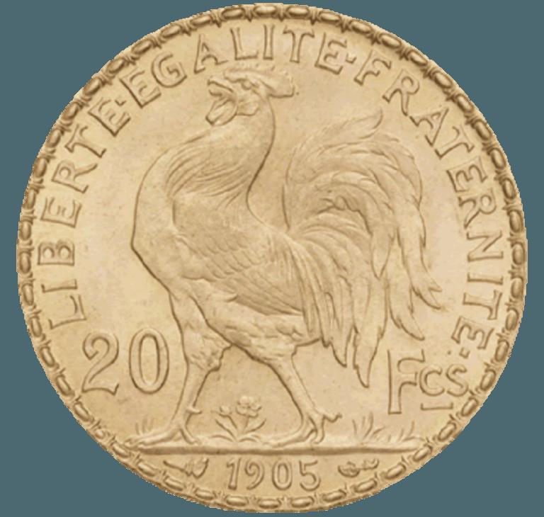 20 francs Marianne Coq OR
