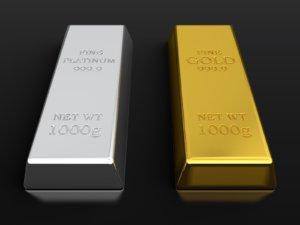 le platine et l'or